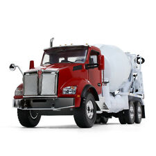 1:34 First Gear RED & WHITE *KENWORTH T880* w/McNeilus Bridgemaster Cement Mixer