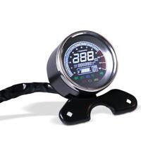 LCD Motorcycle LED Digital Odometer Speedometer Tachometer For Harley Honda BMW