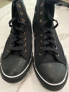 Converse Mens All Star  High Top Lace Up, Black Size 10.5 New