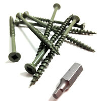 "100, 75mm (3"") DECKING WOOD SCREWS - GASH POINT & ROBERTSON SQUARE DRIVE HEAD"