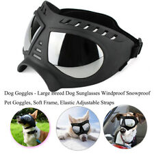 Dog Goggles_Large Breed Dog Sunglasses Windproof Snowproof Goggles_Black Mask