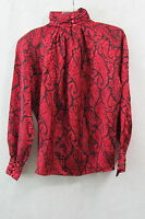 Women's Tess Black & Red Metallic  Blouse Size 6