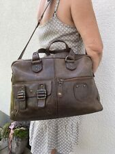 Business-Tasche Aktentasche Messenger aunts & uncles echtes Leder taupe