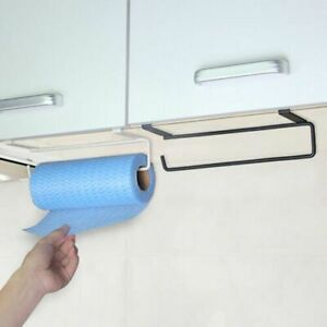 Under Cupboard Unit Shelf Kitchen Paper Towel Roll Holders Hanger Storage  Rack