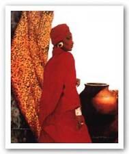 Regal in Red Samuel Byrd African American Art Print 23x30