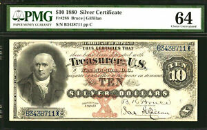 1880 $10 FR 288- Large Silver Certificate PMG 64-RARE