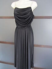 Susan Roselli for Vijack Dress Sz S XS Draping Rhinestone Straps Flattering Vtg