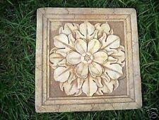 """Flower tile mold 11.5"""" x 11.5"""" x 1/2"""" thick plaster concrete mould"""
