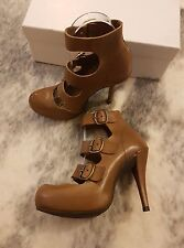 PEDRO GARCIA Cigar Bom, Tan Brown Leather Heels Shoes Size 36 EUC RRP$625.00