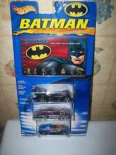 Batman Hot Wheels Action Guide 3 car set + book