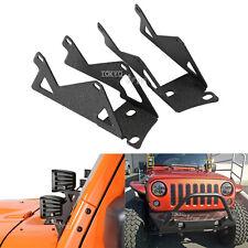 2x A-pillar Mounting Brackets For 2007~2015 Jeep Wrangler JK LED Light Dual Cube
