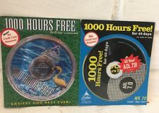 2 America Online AOL CD Collectible 7.0 Version Optimized 1000 Hrs Free