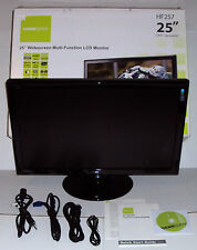 """HANNSPREE 25"""" COMPUTER MONITOR COMPLETE BOX CORDS WIDESCREEN LCD HF257 CPU AS IS"""
