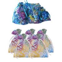 100 pcs Coralline Organza Bag Wedding Party Xmas Favour Decor Gift Pouches Brand