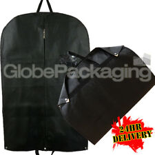 100 x PREMIUM LUXURY BLACK SUIT GARMENT CLOTHES TRAVEL COVERS WITH HANDLES 24HRS