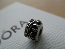 GENUINE STERLING SILVER PANDORA TENDRIL ZIRCONIA CLIP CHARM