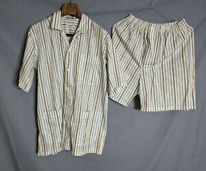 ZIMMERLI Men's Pyjama 100% Cotton size S Switzerland