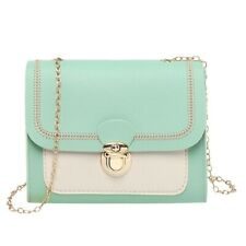 Women Leather Small Crossbody Chain Bags Special Lock Design Travel Handbags