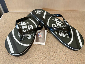 New York Jets NFL Unisex Large Logo Flip Flops ~ New with Tags