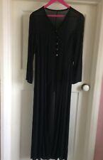 Long black light crepe coat size 10  Medium.  Adams Family Fancy Dress Vampire