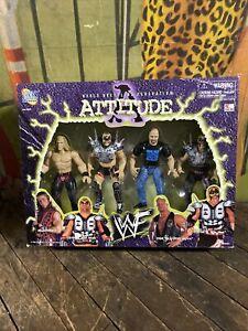 VINTAGE 1998 WWF JAKKS ATTITUDE ERA FIGURE SET WWE WCW NWO ELITE LEGENDS RETRO