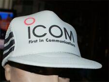 VINTAGE 70S- 80S ICOM COMMUNICATIONS  JAPAN GREY MESH NWOT  TRUCKER HAT CAP