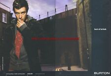 "Burton ""Best Of British"" Clothing 2003 Double Page Magazine Advert #15"