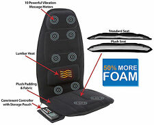 Massage Cushion Heat Back Homedics Chair Home Seat Motor Plush Auto Car Shiatsu
