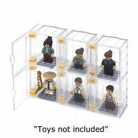 FIGUREBLOCK Lego Minifigure Display Case (6 Cases + 6 Plates) - DIY Disignable