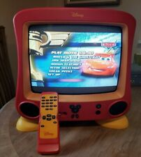 """Disney Mickey Mouse CRT TV 13"""" DT1350-C Works, TV Remote & Feet Only"""