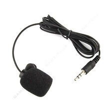 3.5mm Studio Speech Microphone Clip On Lapel for PC Desktop Notebook US Sto