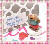 ❤️Wee Forest Folk Mole's First Snow! MO-04a Christmas Snow Winter Mole RETIRED❤️