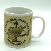 Operation Enduring Freedom Coffee Mug Afghanistan Map War Military Soldier
