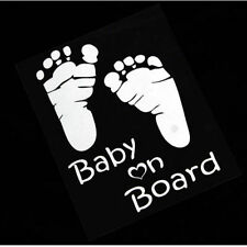 Baby on Board Vinyl Car Sticker With Baby Foot Decal Sign Window Fast Shipping!!
