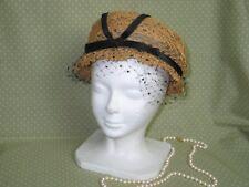 "Antique Vintage Edwardian Straw Cloche Chapeaux Hat ""Gottlieb"" Daytons Oval  Rm"