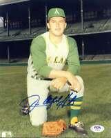 Jim Catfish Hunter Psa Dna Coa Hand Signed 8x10 Photo Autograph