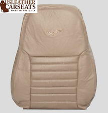 2002 Ford Mustang GT V8 Passenger LEAN BACK Perforated Leather Seat Cover Tan