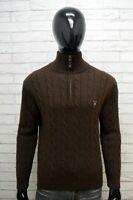 Maglione Uomo Gant Taglia L Cardigan Lana D'agnello Pullover Maglia Sweater Man