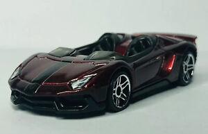 Hot Wheels Lamborghini Aventador J 'Loose' Dark Red