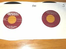 """LOT OF 2 FATS DOMINO 45 RPMs - IMPERIAL 5386 & 5442 - """"I'M IN LOVE AGAIN"""""""