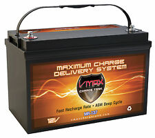 VMAX MR137 for Wellcraft Scarab boat w/group 31 marine deep cycle battery 12V