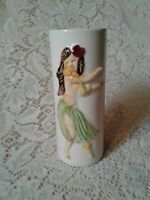 Vintage Hula Girl Vase Orchids of Hawaii Japan