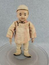 "New ListingVintage composition & cloth 10"" Oriental Boy Doll in original costume"
