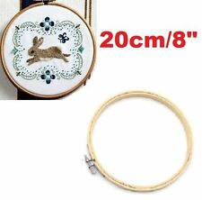 """20cm 8"""" Bamboo Cross Stitch Machine Embroidery Hoop Ring Diy Sewing Tool Craft"""