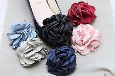 8cm -2Pcs Red Pink Black Blue Rose Flower Wedding Fibre Sandals Shoes Shoe Clips
