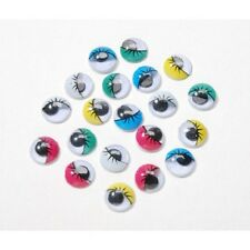 Colored Googly Eyes 10mm Paste On Craft Eyes 30 pieces  BII
