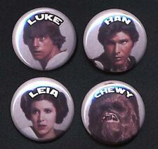 STAR WARS CLASSIC four Button Badge Pins set !