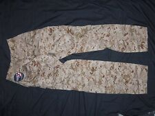 USMC MARPAT TROUSERS COMBAT SMALL REGULAR USA MILITARY DESERT CAMO MCU PANTS S-R
