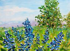 3 Postcards of Texas Bluebonnets Flower Painting by Karen Tarlton