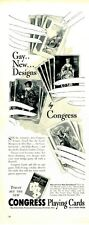 "1940 Congress Playing Cards Great Decor ""Gay new Designs""  PRINT AD"